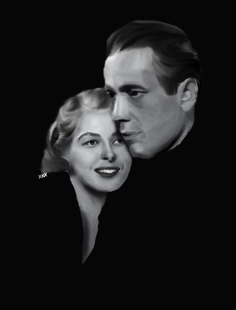 Ingrid Bergman, Humphrey Bogart por GraceRossellini